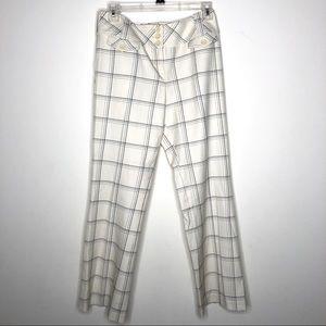 Ann Taylor Loft Window Pane Wide Leg Trouser